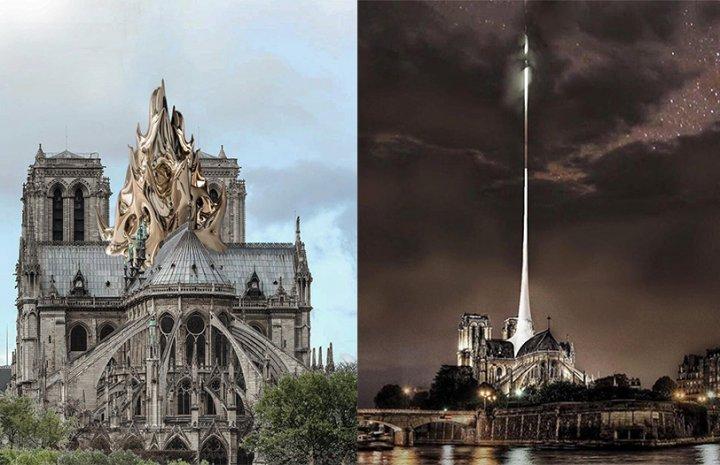 Cum ar putea arăta Catedrala Notre-Dame? 9 propuneri pentru reconstrucția acoperișului