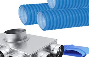 Tubulatura flexibila antibacteriana HDPE si accesorii pentru sisteme de ventilatie