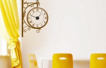Stickere decorative tip ceas de perete