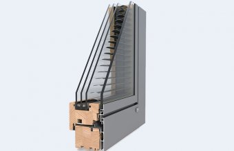 Ferestre din lemn placat cu aluminiu - DesignLine Privacy