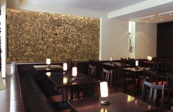 Faianta pictata pentru amenajarea restaurantelor si cafenelelor