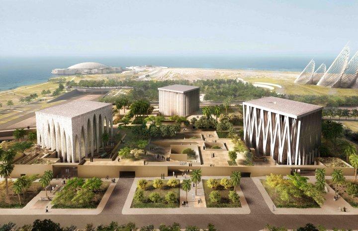 Un proiect ambițios în deșert: O biserică, o moschee și o sinagogă stau în armonie una lângă alta