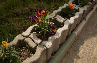 Jardiniere din beton