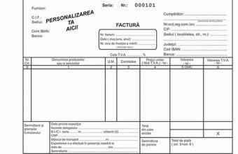 Tipizate personalizate pentru facturi, chitantiere, avize, bonuri de consum, bonuri de comanda, CMR-uri